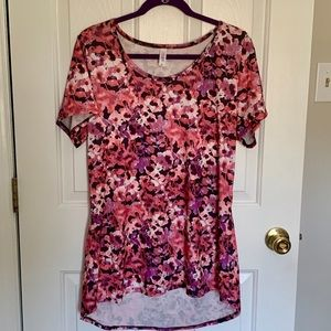 LuLaRoe Classic T with Watercolor Floral Pattern